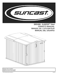 Suncast Horizontal Storage Shed Assembly by Suncast Bms4900 Instructions Assembly