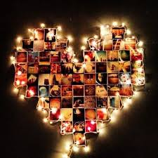 Beautiful And Very Personalized Christmas Holiday Decoration Idea Using A Light Family Pictures Create Your Own Heart Shaped Frame