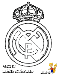 Real Madrid Soccer Coloring Pages