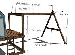 Build A Swing Dimensions Backyard Frame