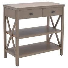owings console table with 2 shelves and drawers rustic threshold