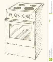 28 Collection Of Electric Stove Drawing