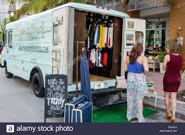 100 Truck Stores Miami Beach Florida Ocean Drive Popup Store Trendy Fashion