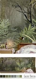 panorama tapete mit dschungel im schlafzimmer dschungel