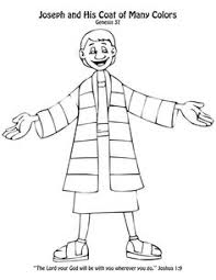 Josephs Coat Of Many Colors Craft Coloring Page Toddlers Glued Colored Pieces Tissue