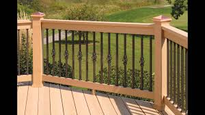 Wood Deck Designs   Wood Deck Railing Designs - YouTube Best 25 Deck Railings Ideas On Pinterest Outdoor Stairs 7 Best Images Cable Railing Decking And Fiberon Com Railing Gate 29 Cottage Deck Banister Cap Near The House Banquette Diy Wood Ideas Doherty Durability Of Fencing Beautiful Rail For And Indoors 126 Dock Stairs 21 Metal Rustic Title Rustic Brown Wood Decks 9