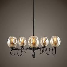 100 Fritz 5 Light Gold Glass Chandelier Amazoncom