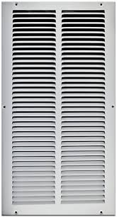 Decorative Return Air Grille 20 X 20 by X 20 Stamped Steel Return Air Grille White