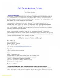Sample Resume For Call Center Position Valid 23 Agent Free