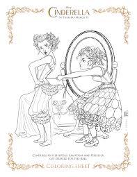 Cinderella Coloring Page Stepsisters
