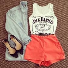 Cute Summer Outfits Tumblr ShortsTank Top Fashion Clothes Look