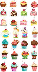 best free cupcake drawing vector file