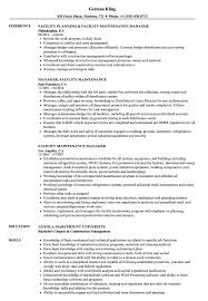 Download Facility Maintenance Manager Resume Sample As Image File