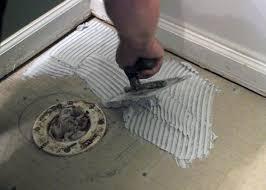 Laying Tile Floor In Bathroom