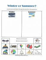 Winter Or Summer Classifying Activity