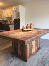 Rustic Style Table Made By Hand From Barn Wood Designdantan