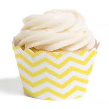 Dress My Cupcake Standard Wrappers Chevron Yellow Set Of 12