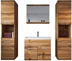 badplaats bv badezimmer badmöbel set montreal xl 60 cm waschbecken wotan braun unterschrank hochschrank waschtisch möbel