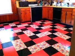 Patterned Vinyl Tile Flooring Vintage Retro Floor Tiles With