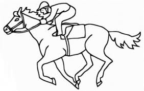8 Pics Of Printable Advanced Coloring Pages Racing Horses