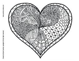 Heart Coloring Pages For Valentines