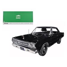 100 Belvedere Canada 1967 Plymouth GTX Convertible Black 118 Diecast Model Car By Greenlight