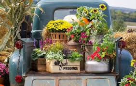 Truck Bed Flowers Jigsaw Puzzle
