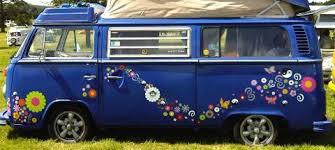 VW Camper Van Vinyl Hippy Flower Peace Graphics Stickers Decals