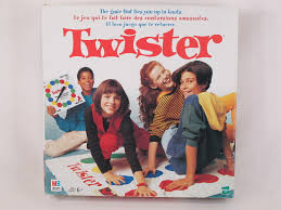 TWISTER BOARD GAME 1998 THE THAT TIES YOU UP IN KNOTS EXCELLENT TRILINGUAL