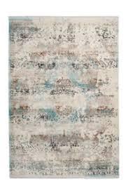 details zu teppich vintage azteken ethno fransen teppiche wohnzimmer beige blau 80x150cm