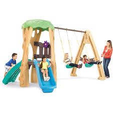 Patio Swing Sets Walmart by Little Tikes Tree House Swing Set Walmart Com
