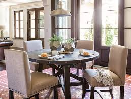Country Rustic Dining Room With Jaxon Round Extension Table