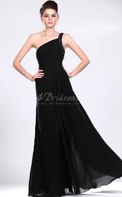 elegant photos of long black chiffon bridesmaid dresses elite