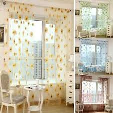 details zu transparent blumen gardinen vorhang schiere fenster vorhänge schlafzimmer deko