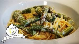 thermomix spaghetti mit grünem spargel vegetarisch