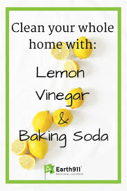 clean your whole house with vinegar baking soda and lemon