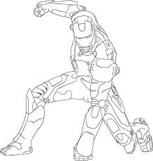Ultimate Iron Man Colouring Pages