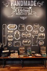 Presenting Jewelry On A Chalkboard Wall