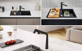 schwarze spülen und armaturen franke küchenfinder