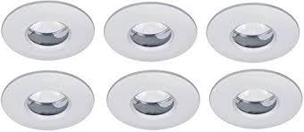 led badezimmer einbauleuchten set 6x5w ip65 bad einbaustrahler weiss feuchtraum smd
