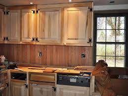 Kitchen Backsplash Ideas With Dark Wood Cabinets by Diy Beadboard Kitchen Backsplash With Wooden Cabinet 5072