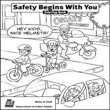 Cute Bike Safety Coloring Pages