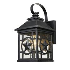 Home Decorators Collection Black Medium Outdoor Seeded Glass Dusk