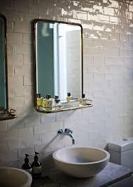 crackled subway tile eclectic bathroom