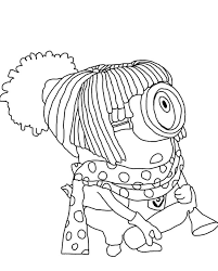 Despicable Me Minions Coloring Pages Colouring Of Dave The Minion