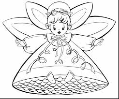 Brilliant Christmas Fairy Coloring Page With Angel Pages And For Preschool