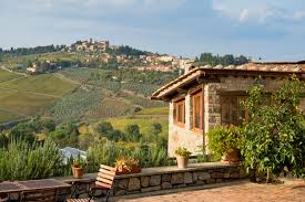 Houses Tuscan Villa Design Italy House Stairs Landscape Yard
