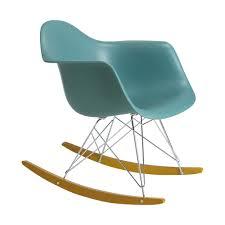 chaise a bascule eames à bascule rar bleu océan vitra