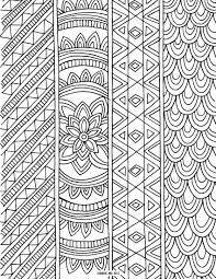 Patterned Ribbons Coloring Page