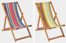 Above The Selsey Deckchair Is Made In England Of Woven Cotton Fabric For GBP99 Each From Toast US Loungers A Similar Chair French Beechwood Deck